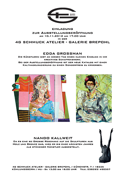 Vernissage am 10.11. 2012 Galerie Brepohl  in Kühlungsborn